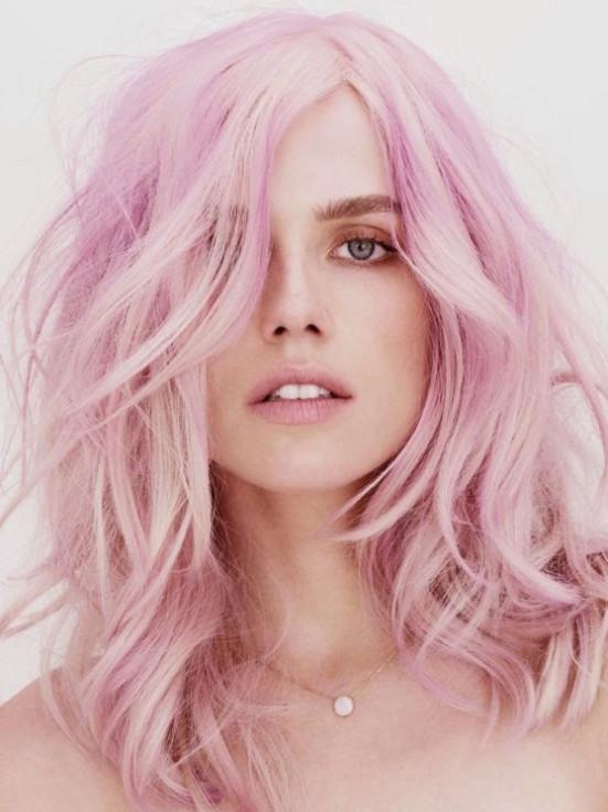 cabelos_cor_de_rosa_algodão_doce_pink_hair_style-551x735