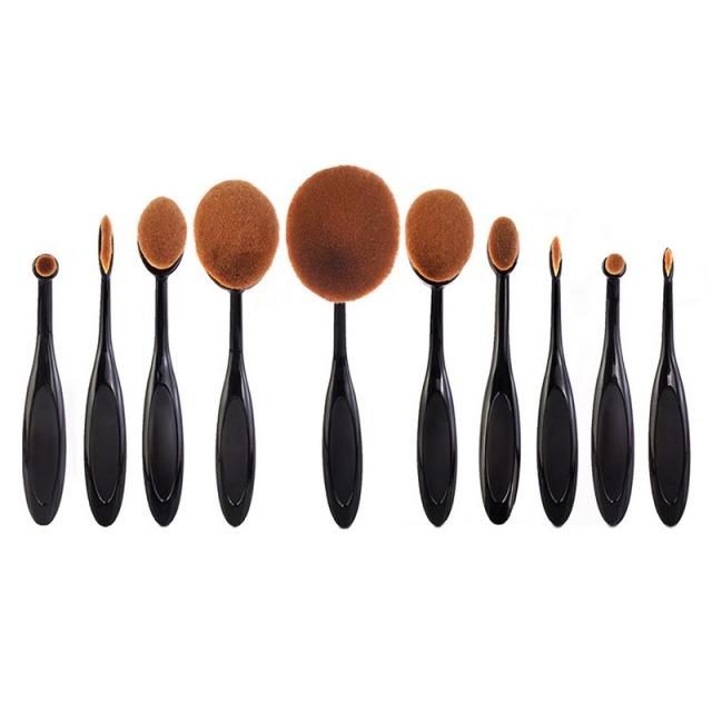10-Pçs-set-Pro-escova-de-Dentes-Em-Forma-de-Poder-Fundação-Rosto-Delineador-Sobrancelha-Lip
