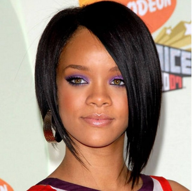 asymmetrical-celebrity-short-bob-hairstyles-for-African-American-women-with-straight-and-fine-hair