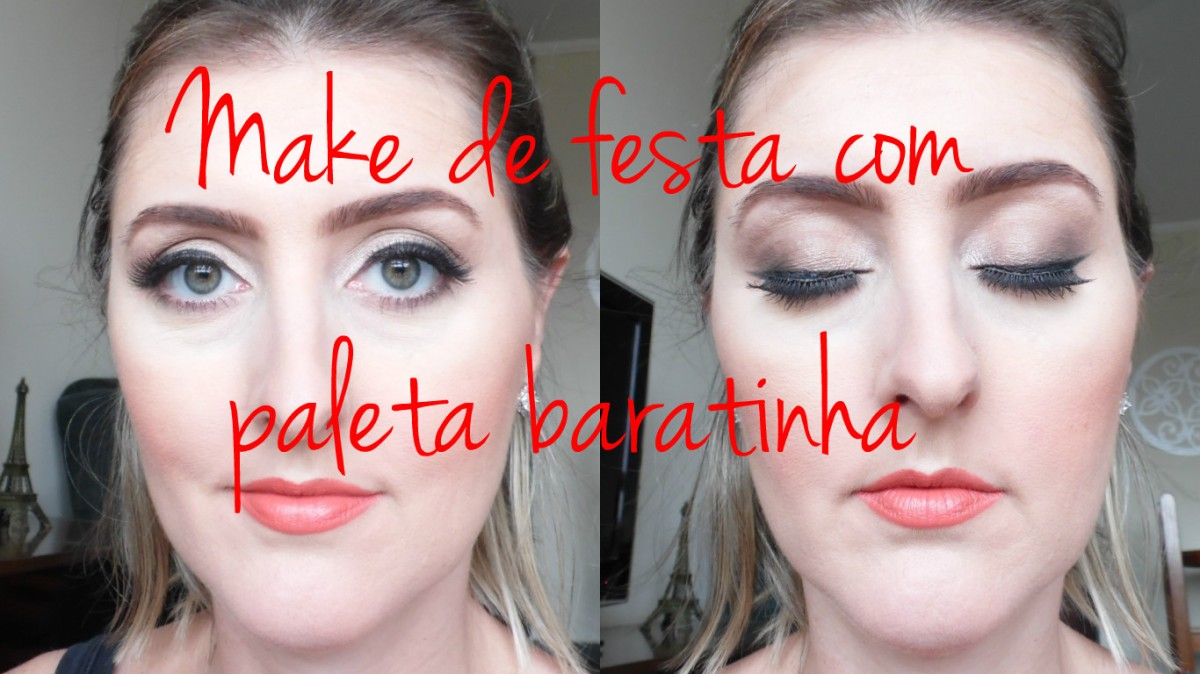 Tutorial- Make de festa com paleta baratinha Belle Angel